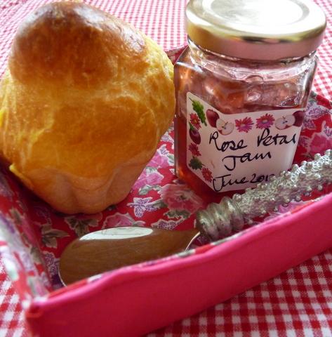 brioche and rose petal jam