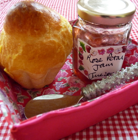 brioche and rose petal jam