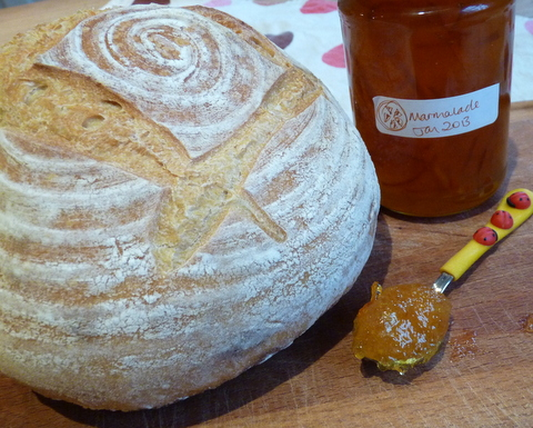 marmalade and sourdough