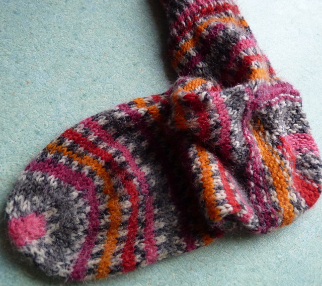 sock knitted toe up