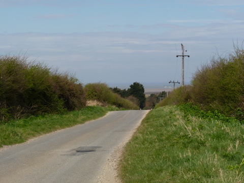 walking inland near Thornham