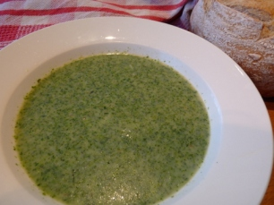soup made with stinging nettles