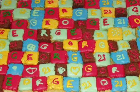patchwork birthday cake