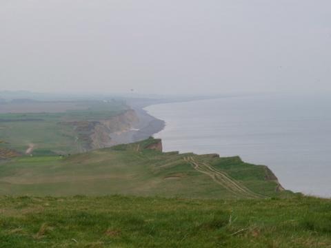 Norfolk Coast Path back towards Water Hill