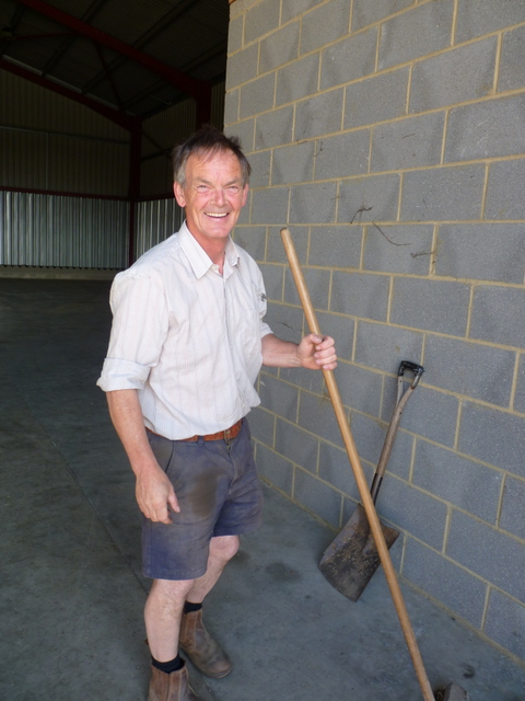sweeping the grainstore