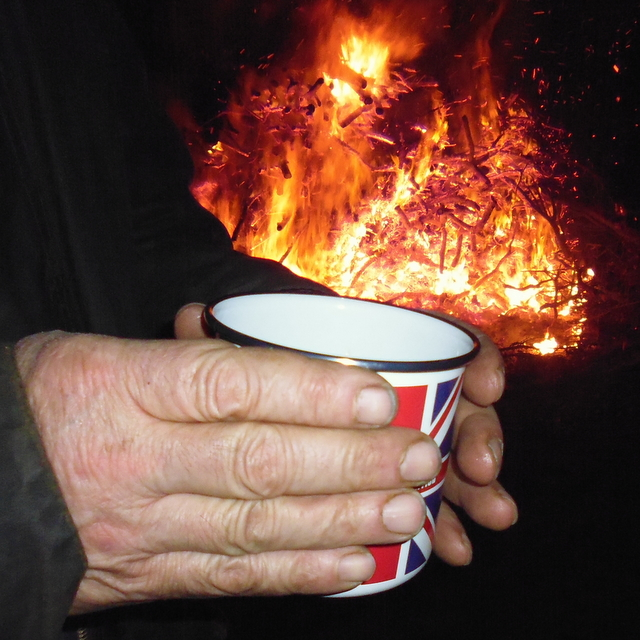 bonfire and slamseys sloe gin