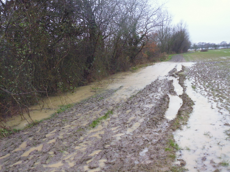 flooded footpath