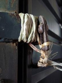 baler twine holding the horse trailer together