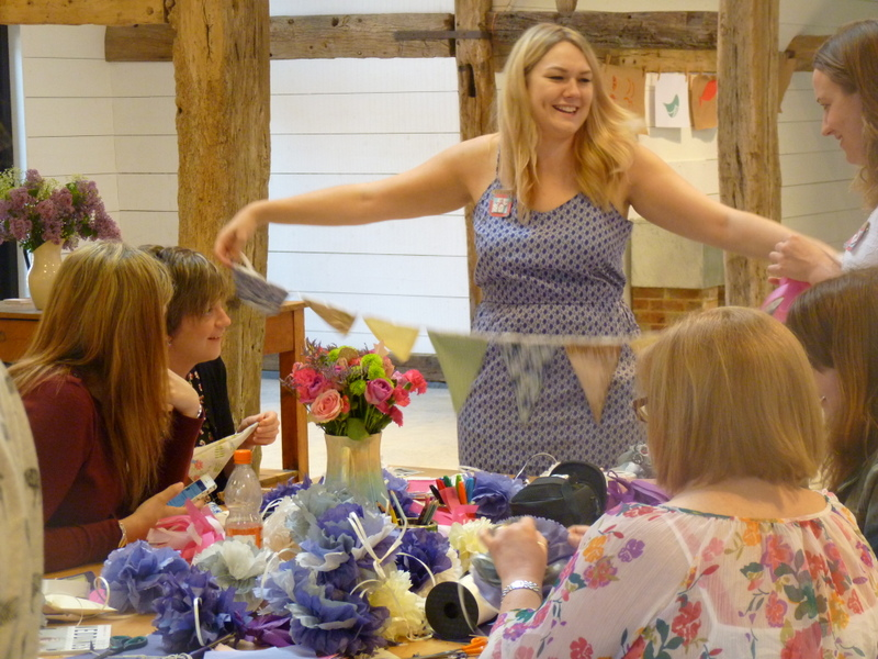 hen party making bunting