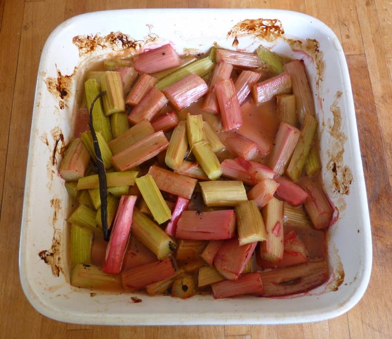 baked rhurbarb