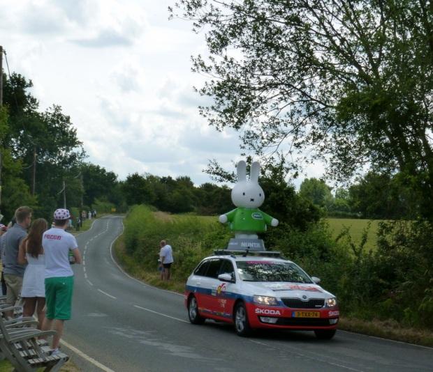 part of Tour de France caravan at Frenches Green