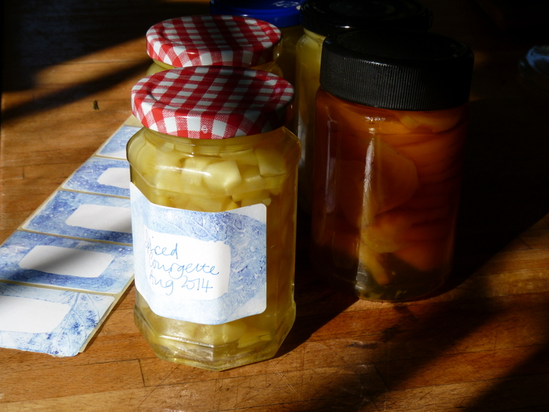 pickled spiced courgette