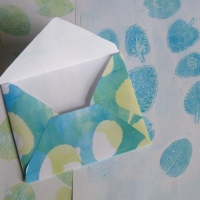 jelly printing with a gelatine plate