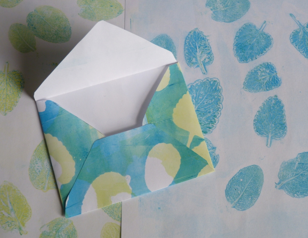 jelly printing envelopes