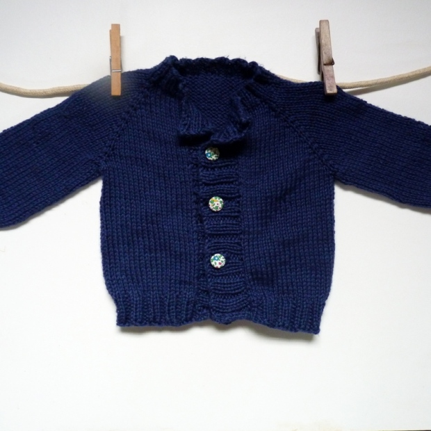 hand knitted cardigan for baby
