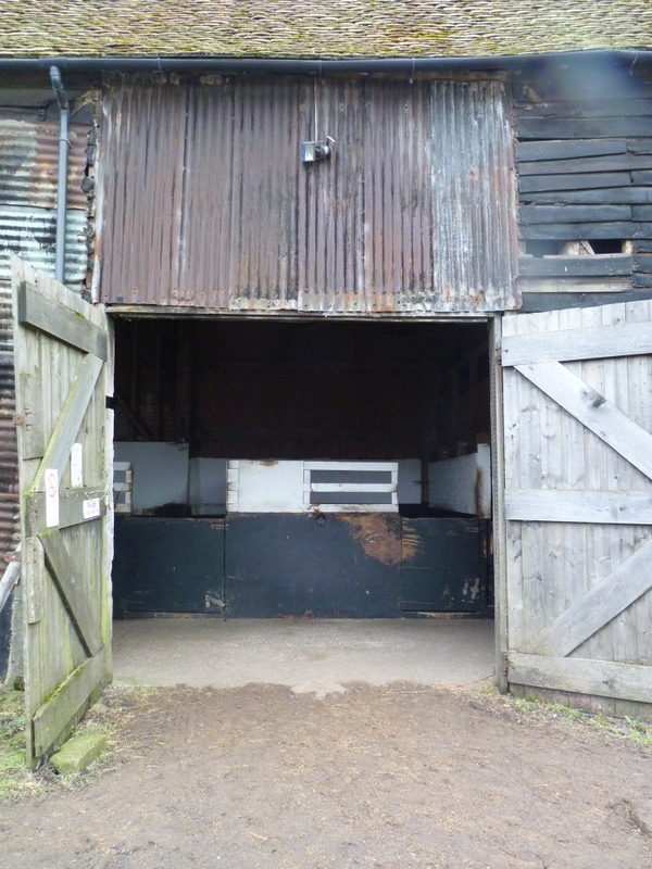 entrance doors to traditional Essex barn