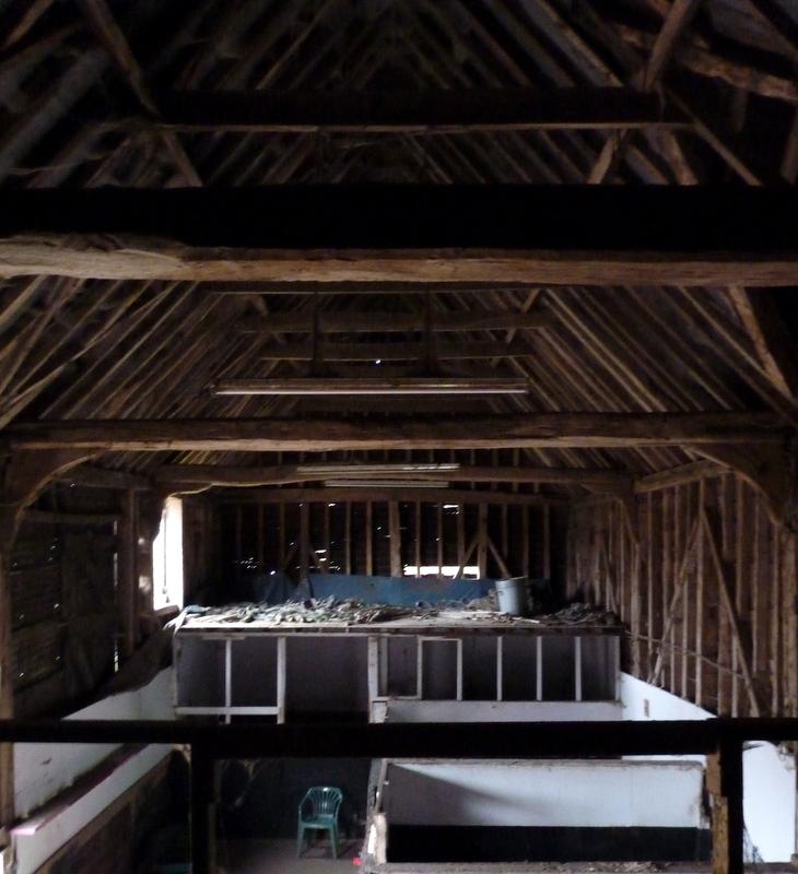traditional Essex barn interior