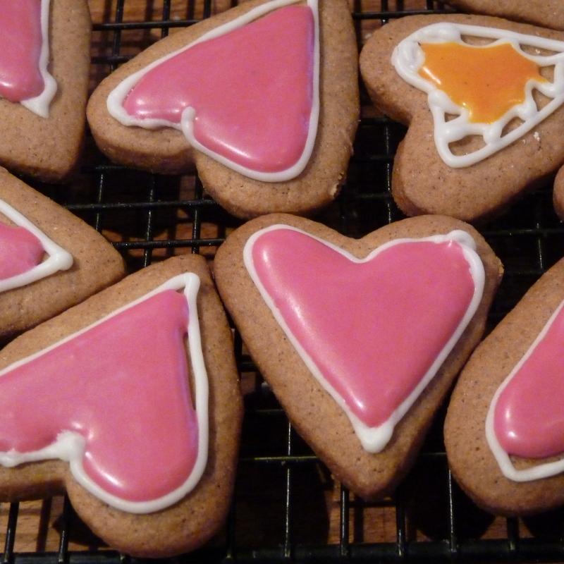 valentine biscuits