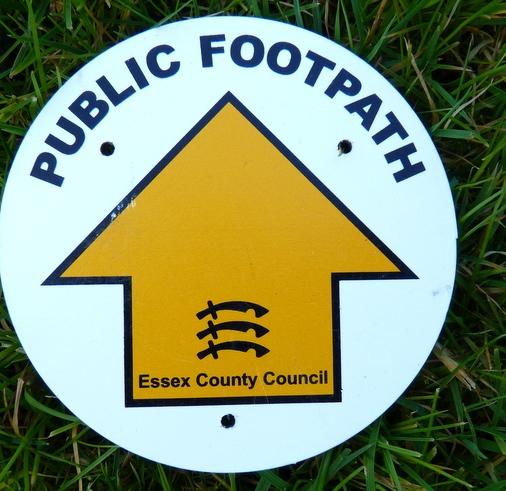 public footpath marker