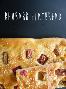 rhubarb flatbread recipe