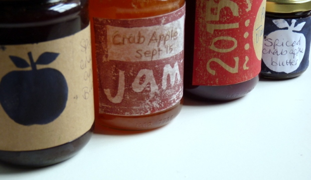 hand printed preserve labels