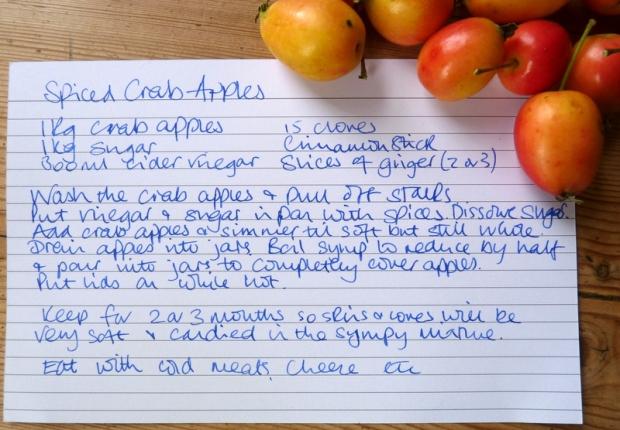spiced crab apple recipe