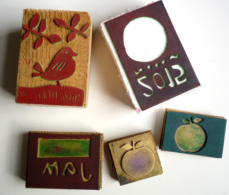 blocks for hand printed labels