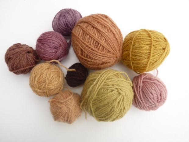 wool natural dye colours