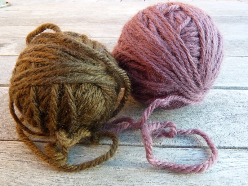 blackberry dyed wool