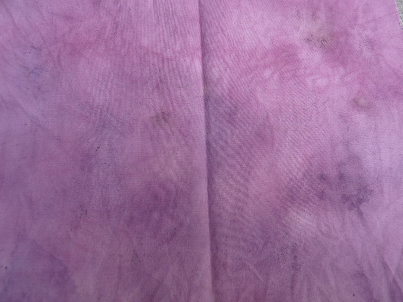 cotton dyed with blackberries