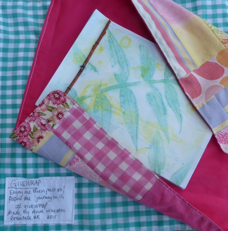 jelly print book in fabric gift wrap