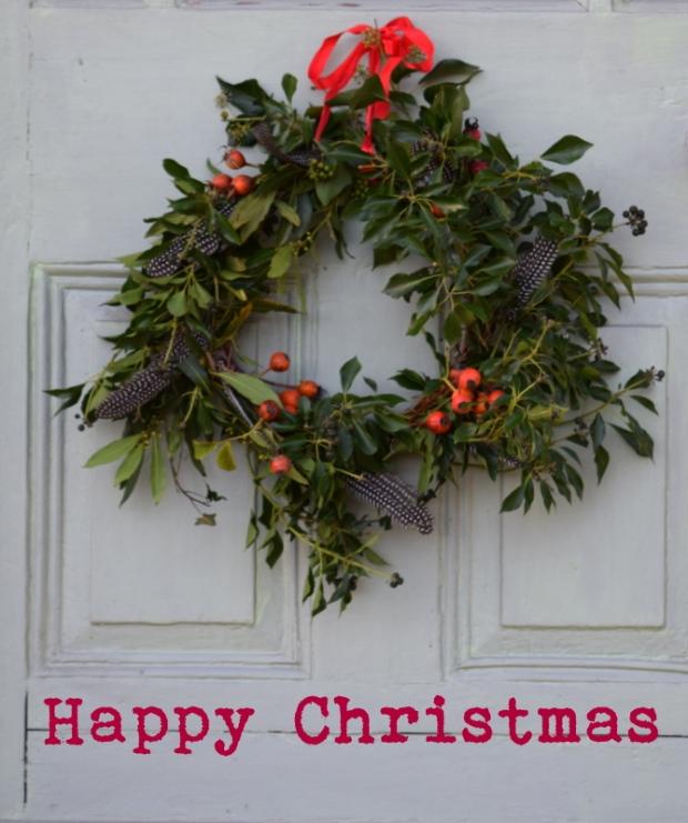 Christmas tree shaped wreath