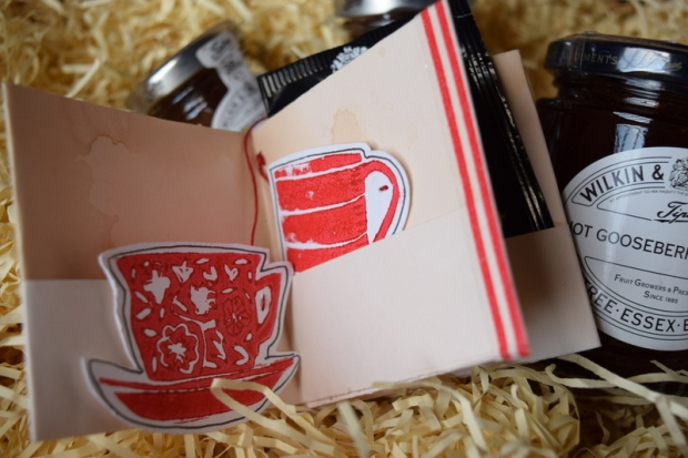 tea themed book with pockets