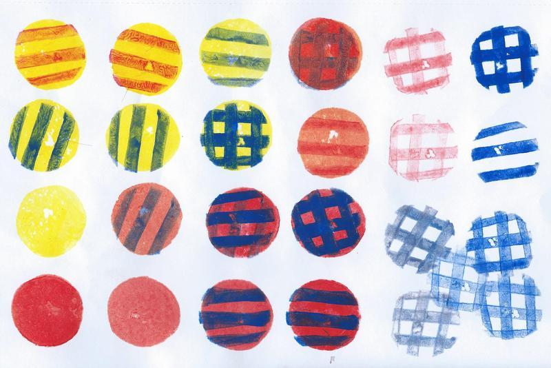 potato print circles