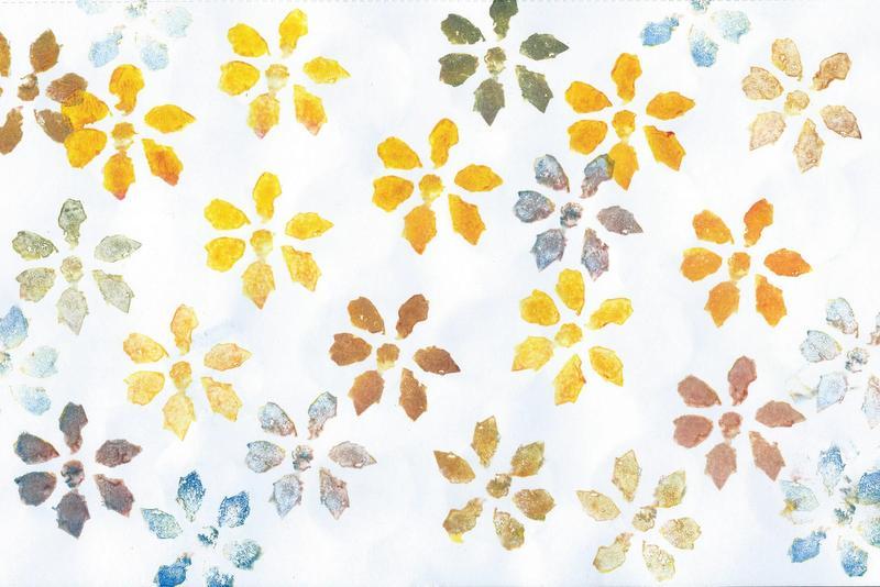 potato print flowers