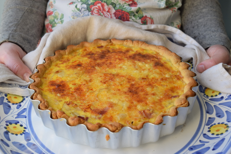 cheese and bacon flan