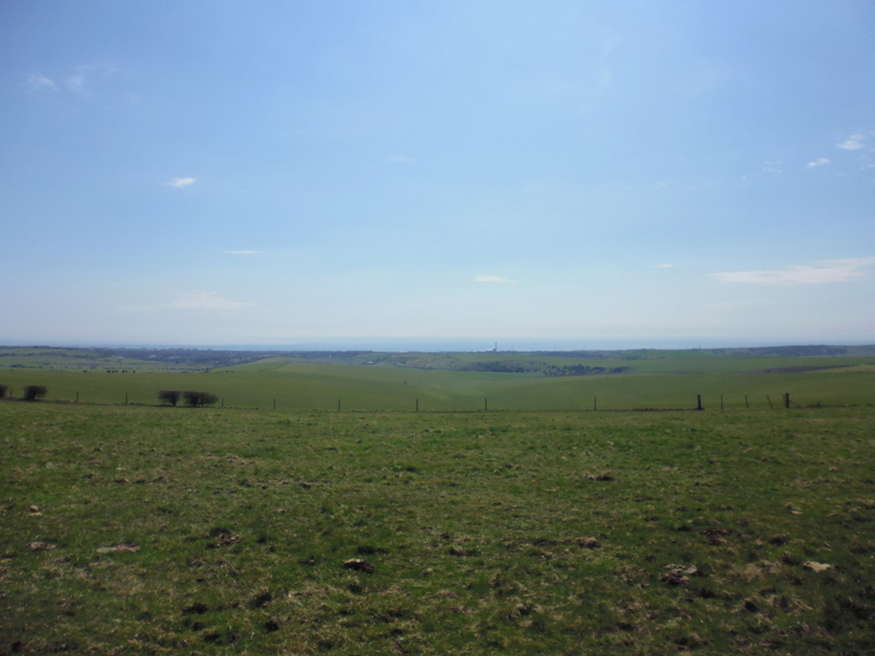 towards the sea from South Downs Way