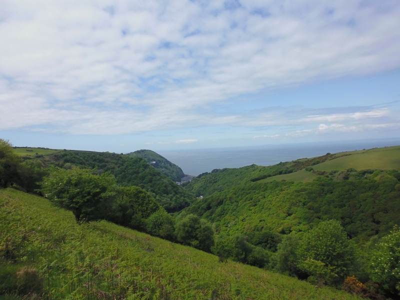 Lynmouth from 2 Moors Wa