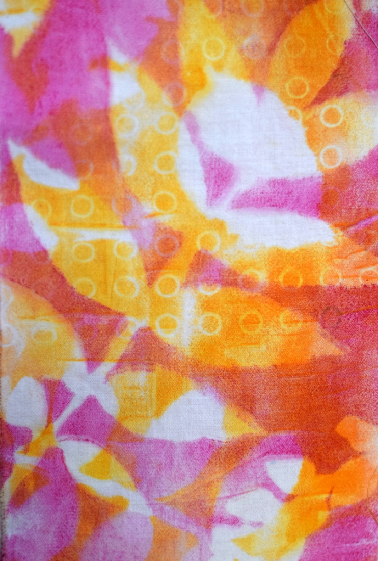 jelly printing on fabric