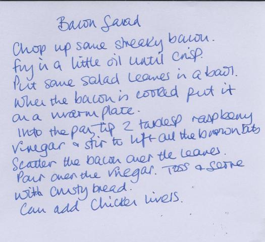 bacon salad recipe