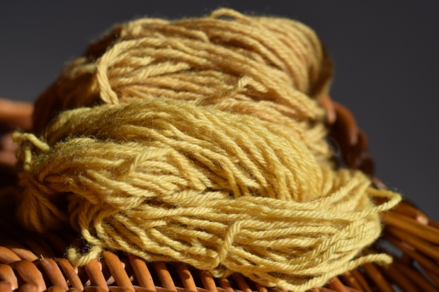 wool dyed with crab apples