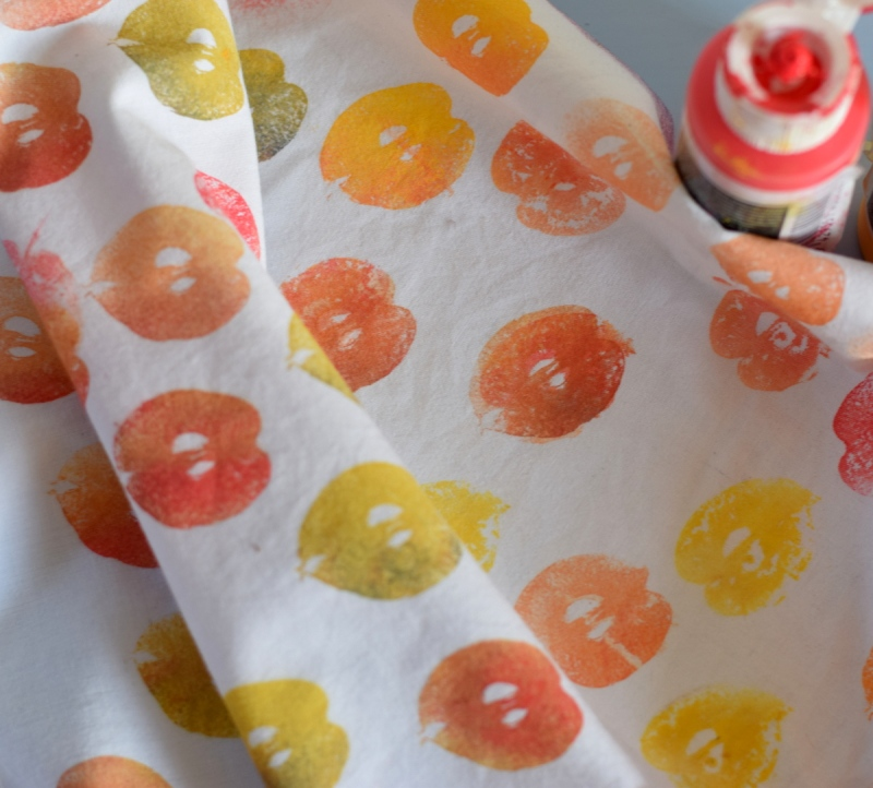 fabric printed with crab apples