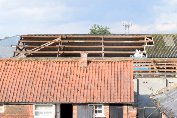 barn roof removal