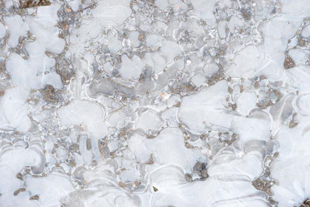 frozen puddles