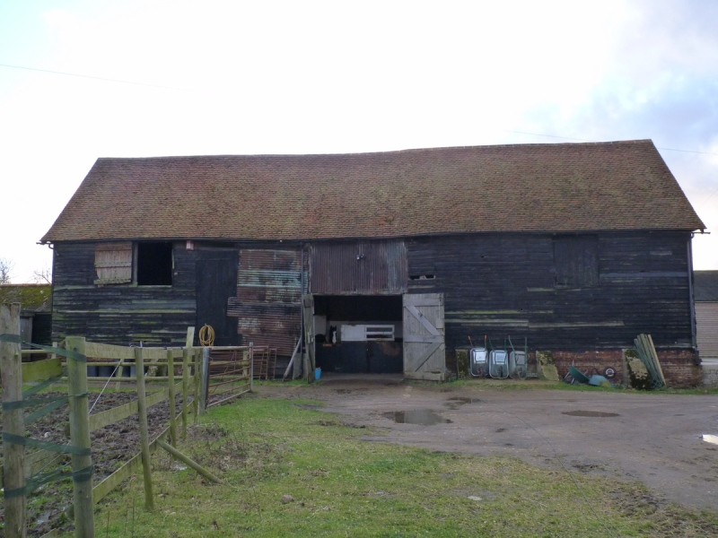 Hay barn at slamseys