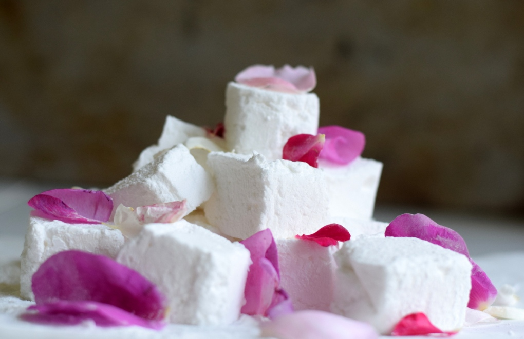 Elderflower and Rose Marshmallows