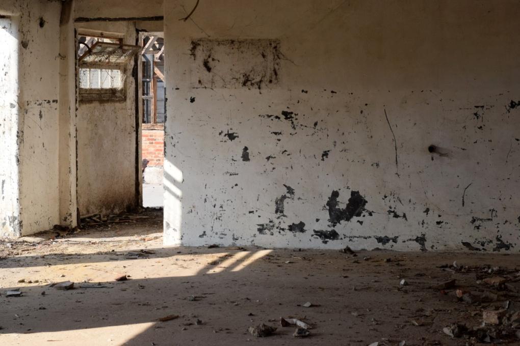 inside old farm building