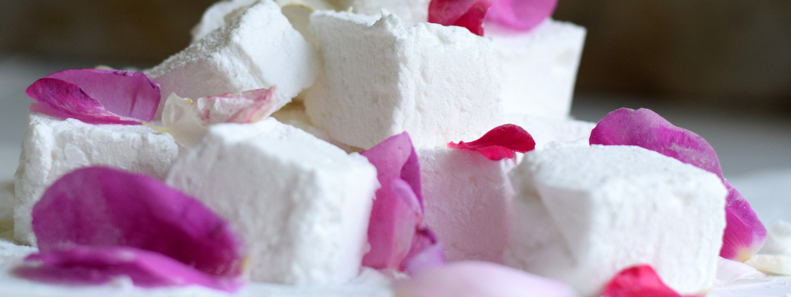 rose and elderflower marshmallows