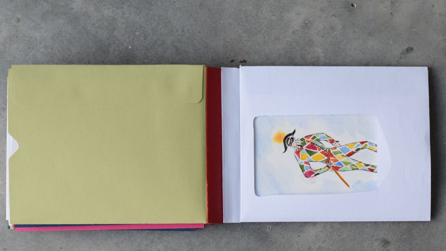 hand made envelope book