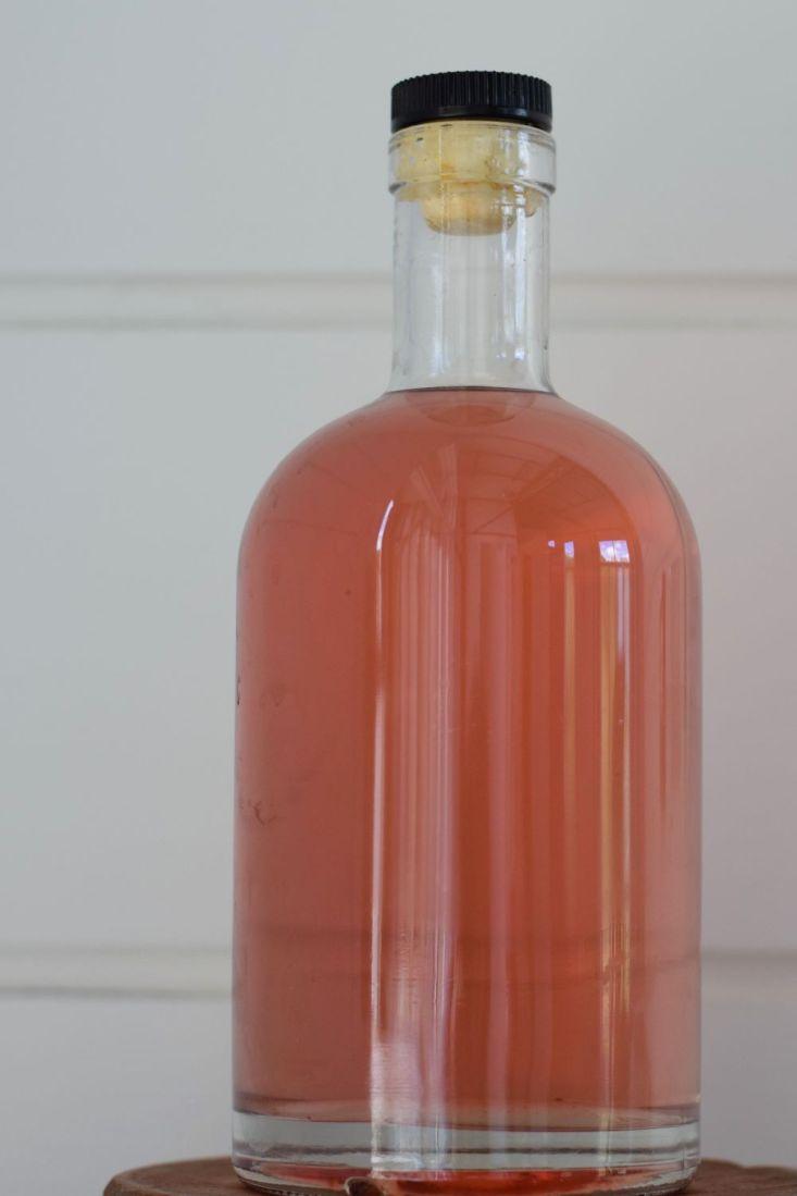 Bottle of blackthorn leaf drink